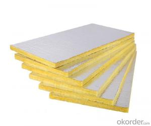 Glass Wool Board 12kg/m3 With Aluminum Foil Facing