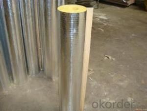 Glass Wool Pipe 10kg/m3 With Aluminum Foil Facing