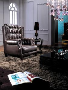 Fabric Chesterfield sofa colorful chair