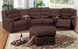 Modern recliner sofa Imported leather 4recliners