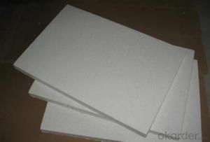 High zirconium ceramic fiber board