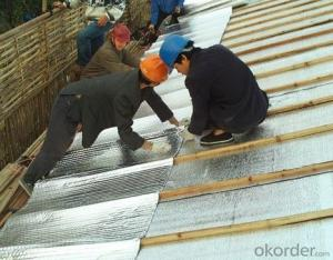 Reflective aluminum foil insulation for wall