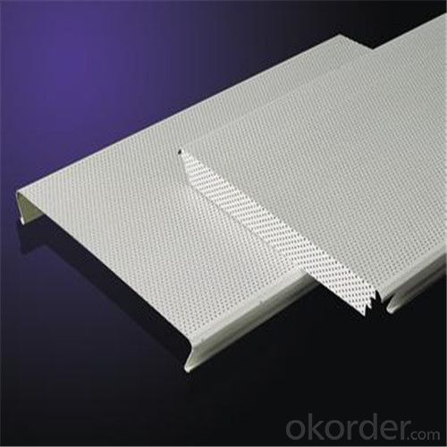 High quality lay in aluminum ceiling tiles/perforated steel ceiling panel