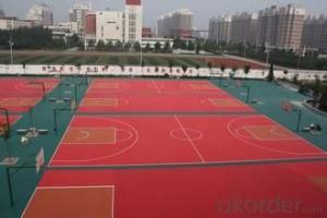 Sports track, artificial floor