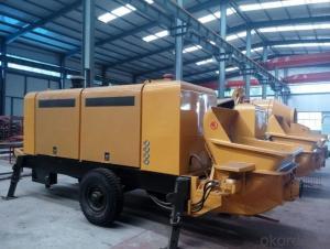 Diesel motor concrete pump