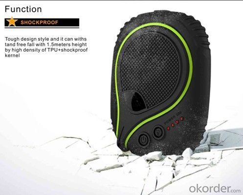 Waterproof Power Bank with Dustproof Shockproof Function