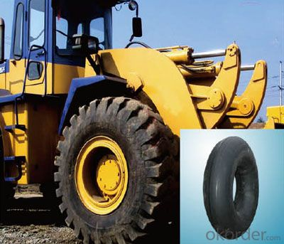 OTR tire inner tube 21-33 oriented/driving tire