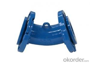 Ductile Iron Pipe Fitting Double Loose Flange Bend