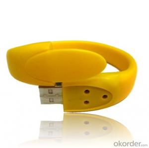 PVC Wristband USB Flash Memory Bracelet USB Flash Drive