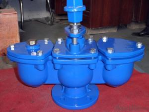 Ductile Iron Double Air Valve With gate valve