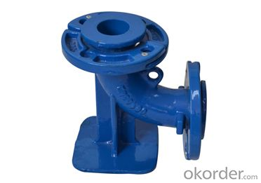 Ductile Iron Pipe Fitting with Loose Flanged Duckfoot Bend