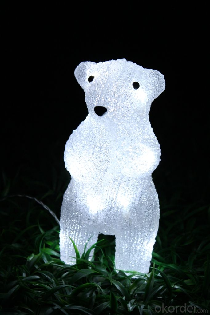 Christmas 3D Motif Light Acrylic Bear