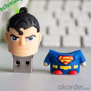 Top Quanlity Cute PVC Superman Cartoon USB Flash Drive