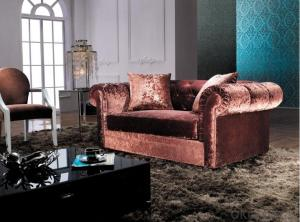 Fabric Chesterfield sofa red color 3 seater set