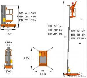 Mobile aluminium platform