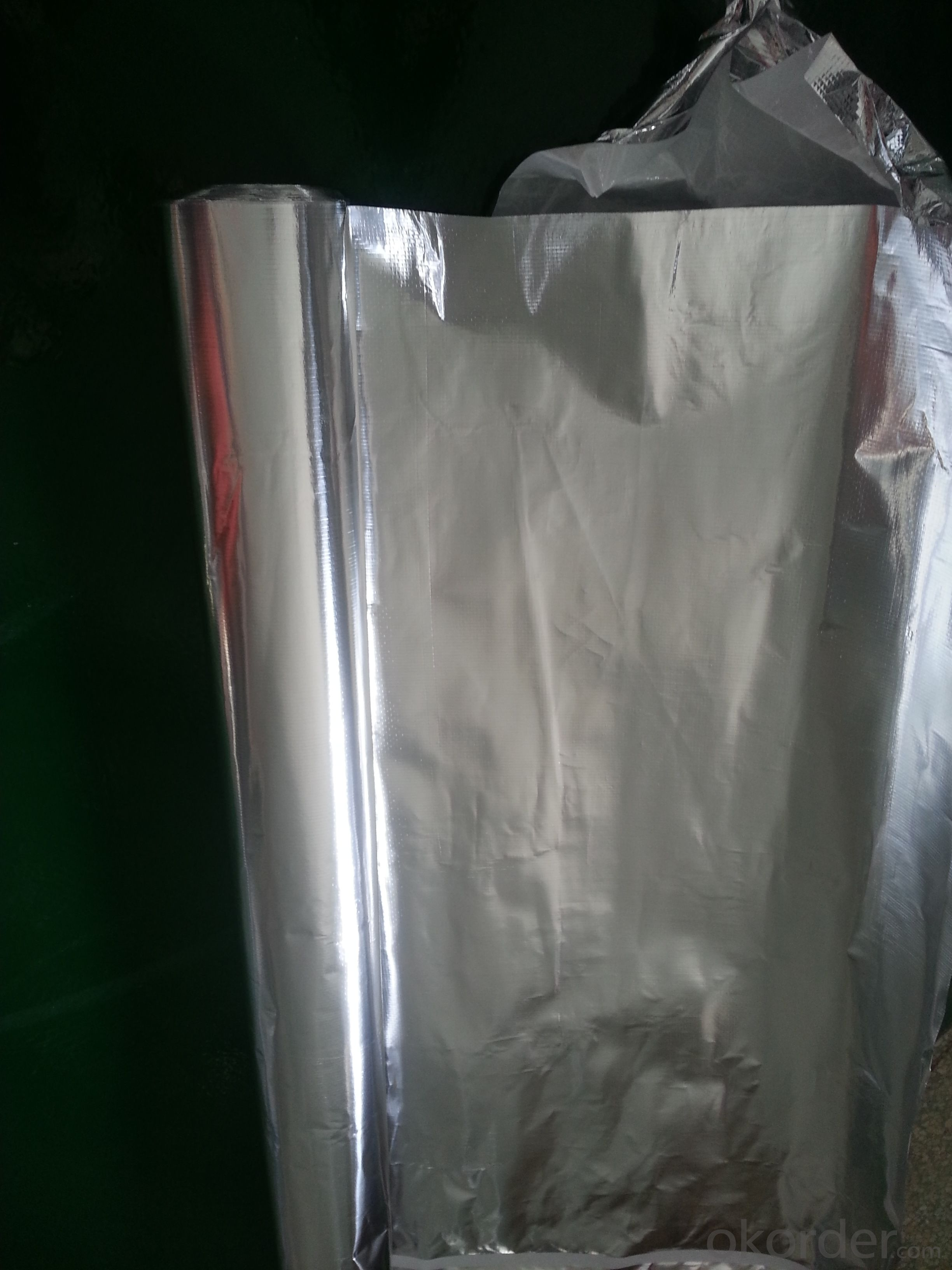 Double side aluminum foil woven fabric