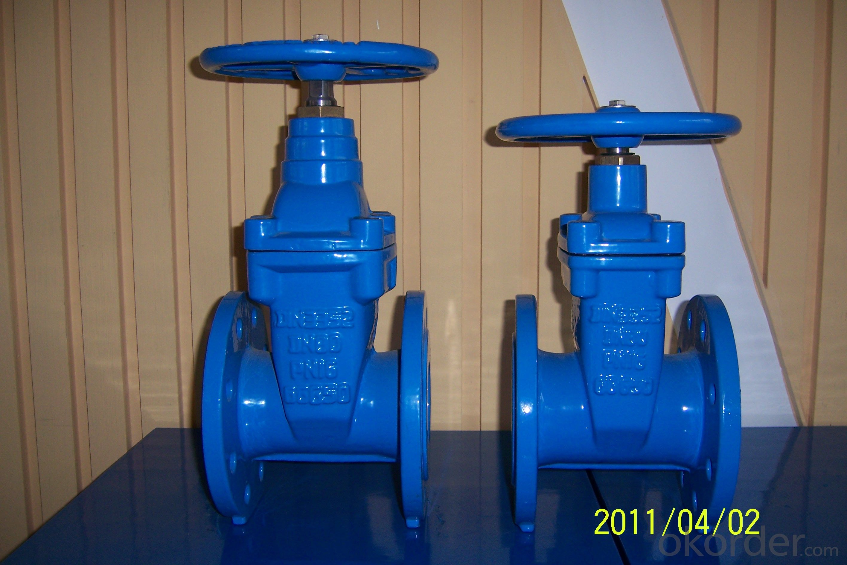 BS5163 DCI Non-rising Gate Valve with pass type