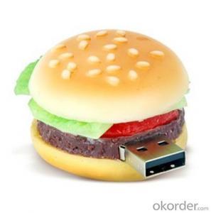 PVC Hamburger USB Drive Pendrives USB Flash Memory