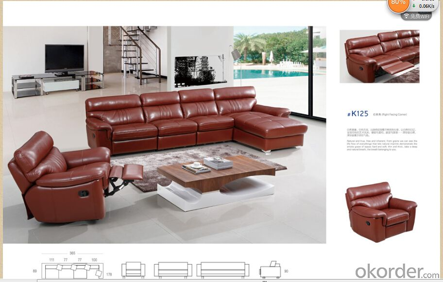 Modern recliner sofa 5 electric round recliner