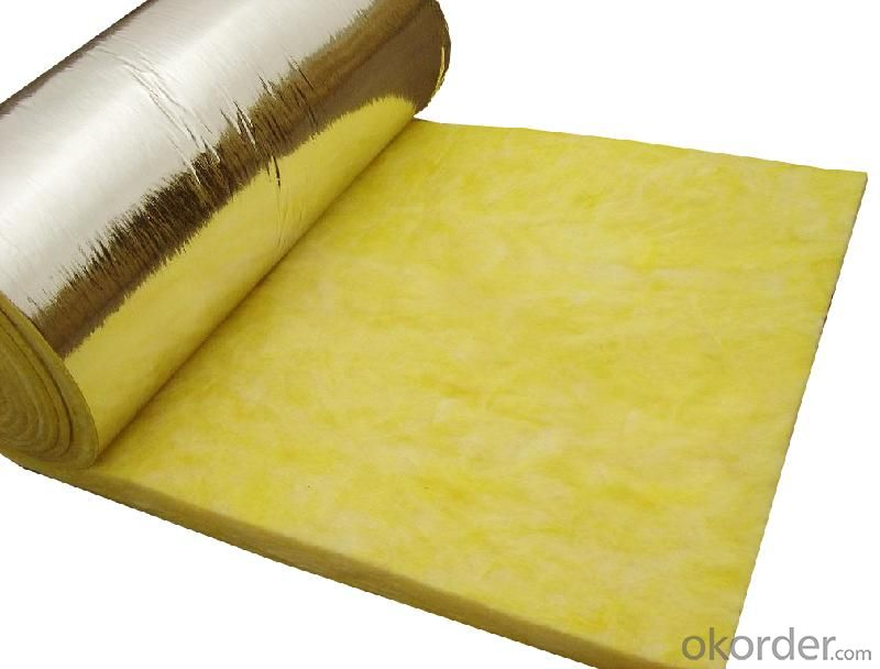Glass Wool Blanket 12kg/m3 With Aluminum Foil Facing
