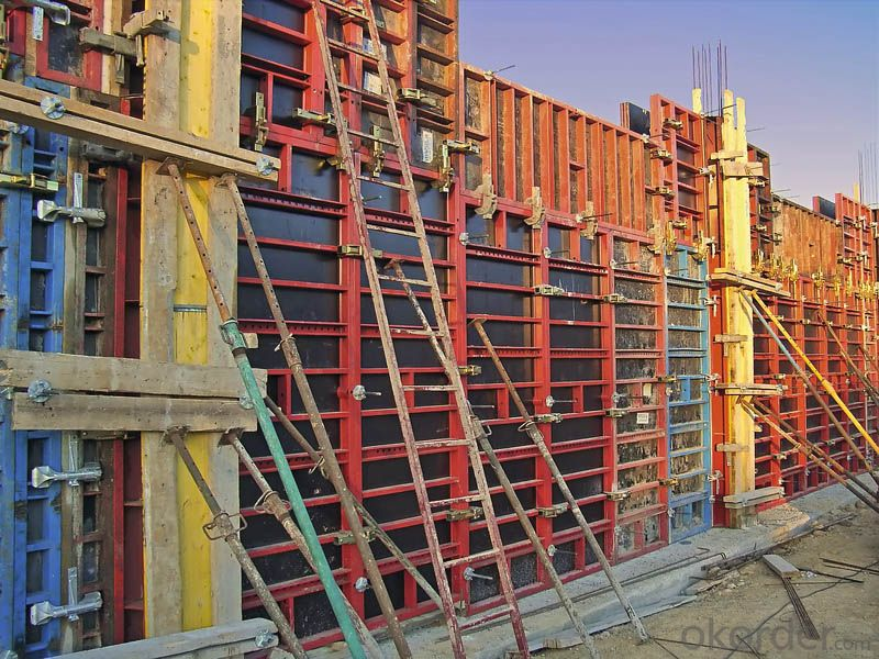 Brown Film Faced Plywood for concrete Formwork Poplar core