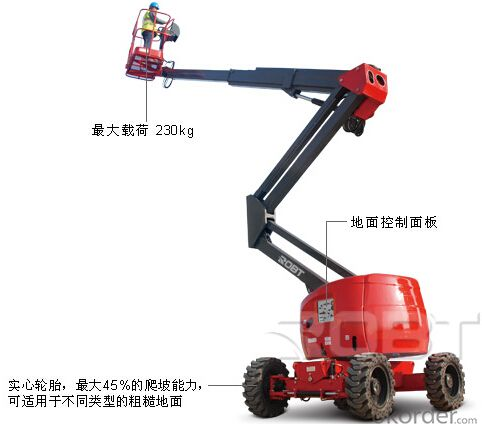 Self-propelled Diesel articulated boom lift