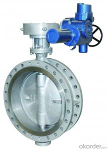 DUCTILE IRON BUTTERFLY VALVE DN1100 China