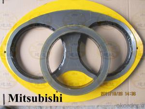 Spectacle wear plate  for Mitsubishi concrete pump DN205