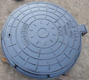 Heavy cast iron round manhole covers