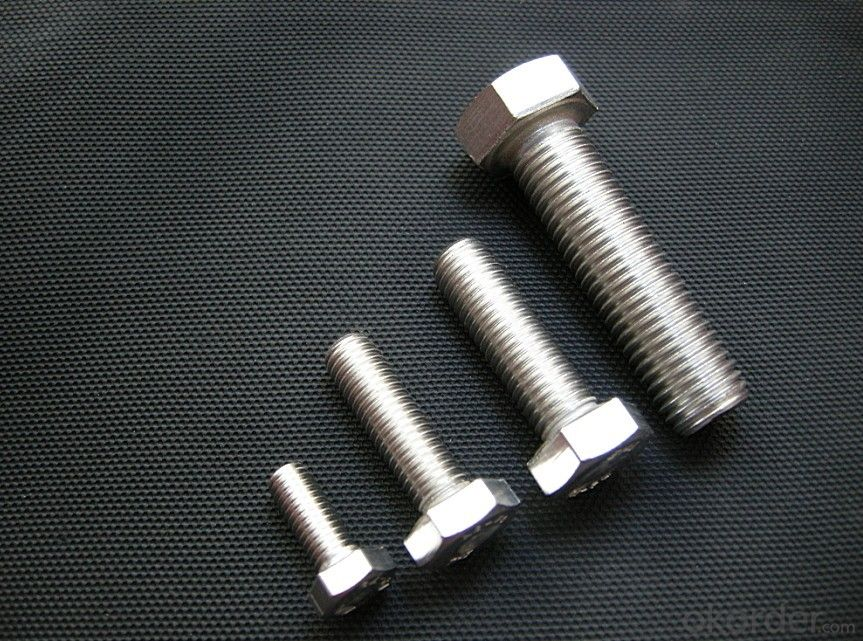 Bolt Carbon Steel Full Thread M6*100 Hex