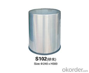 S102 Rooms stainless steel trash