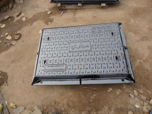 Cast iron rectangular manhole covers