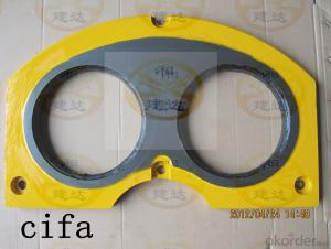 Spectacle wear plate  DN200 for Cifa concrete pump