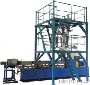 PE/PP force feeding system extrduer  granulation line