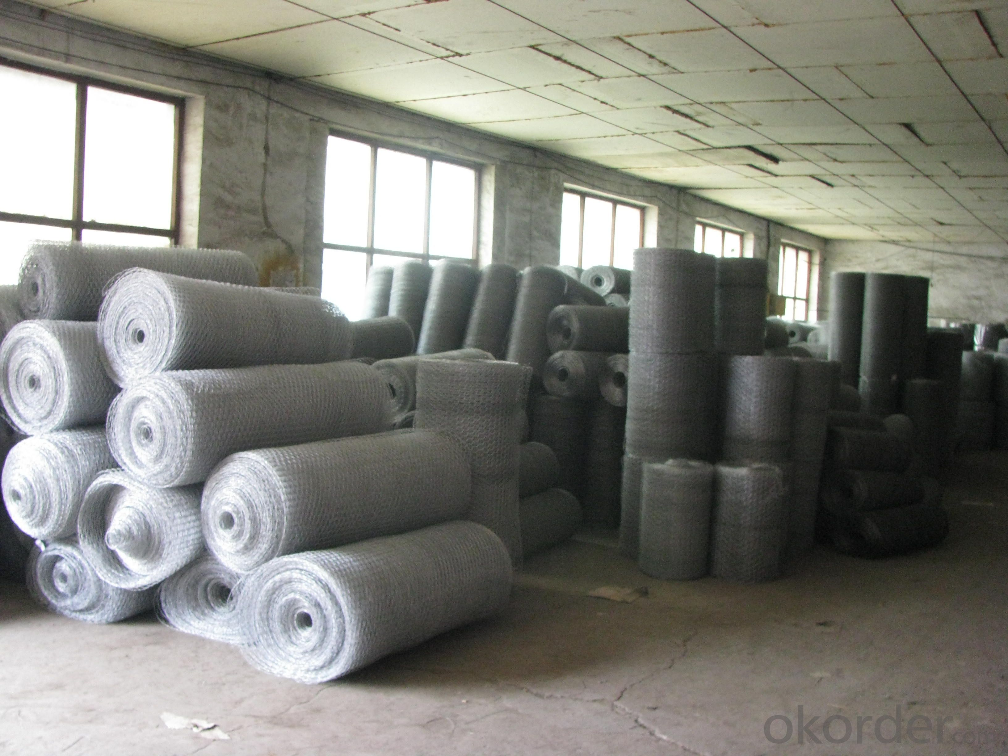 Electro Hex Wire Mesh Galvanzied After Weaving Hex Wire Mesh