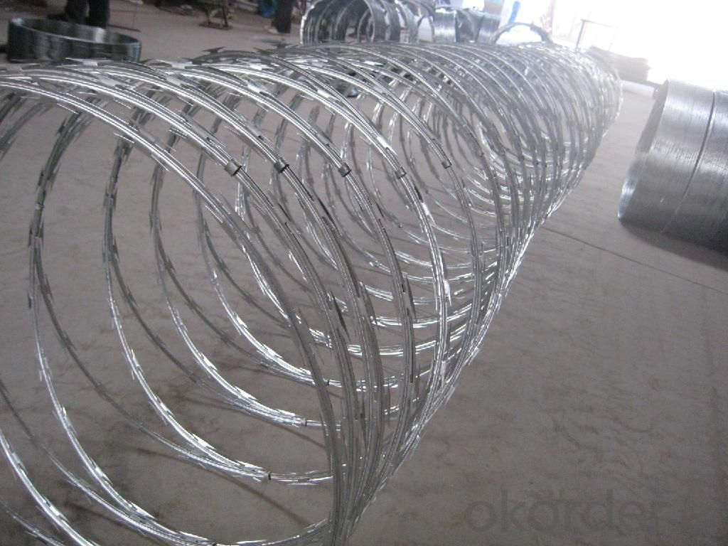 Hot Dipped Galvanzied Razor Wire Galvanized Iron Wire Black Wire