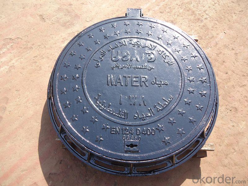 Heavy cast iron round manhole covers
