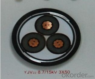 ZHONGMEI XLPE lnsulated Power Cable YJV22 8.7/15KV 3X50