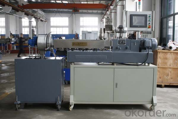 High quality waste plastic single screw granulating line