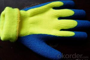 nitrile coated industrial working glove