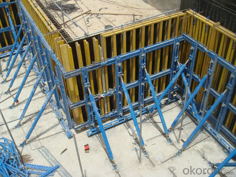 High Bearing Capacity Safe Steel Curve Concrete Wall Formwork