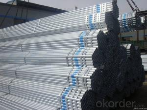Galvanized iron pipe for gas