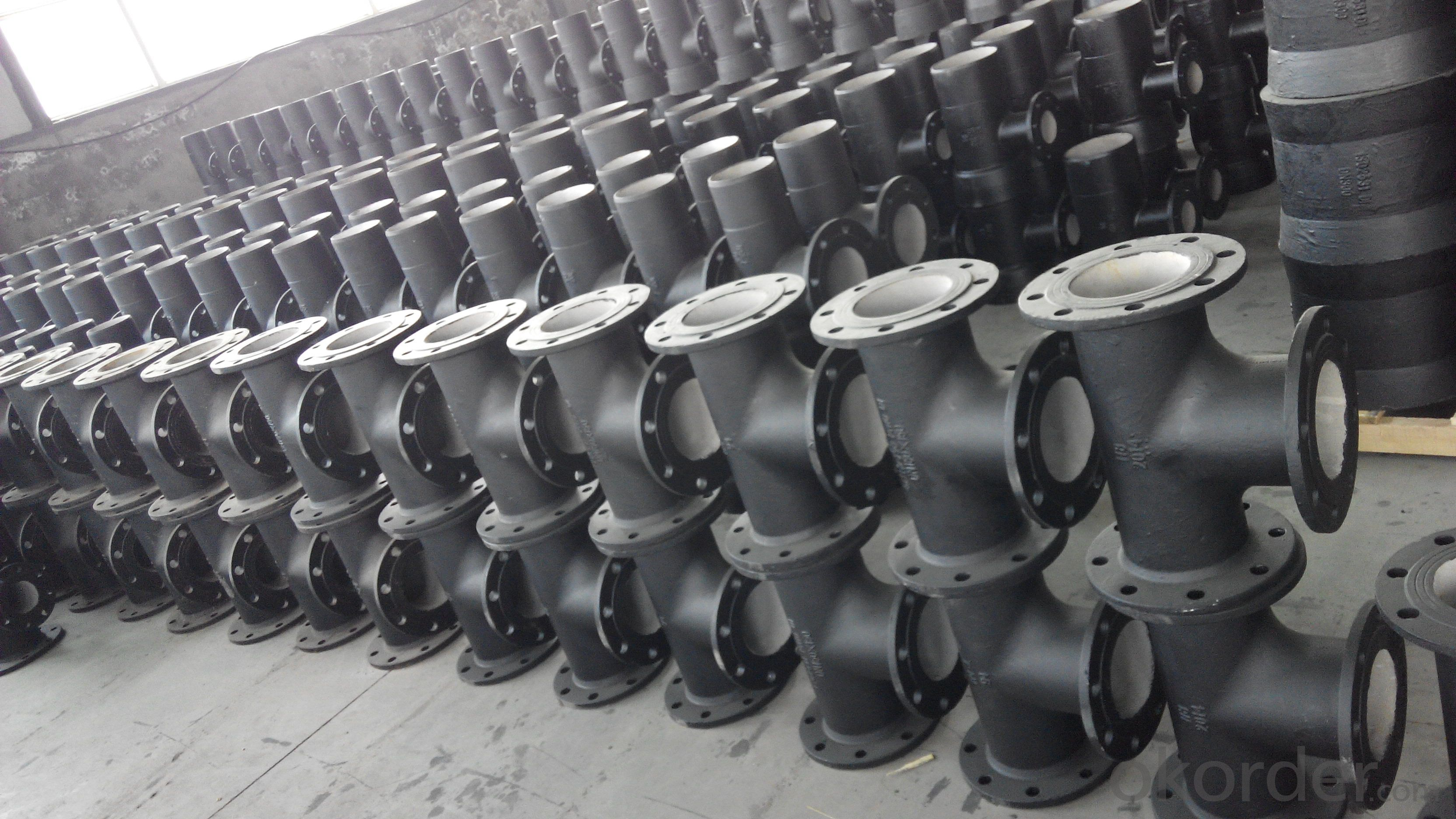 ductile iron  fitting all flange tee