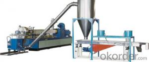 PVC hot cutting pelletizing line mould face granulating line