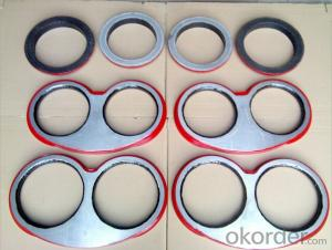 SANY  DN200 Spectacle Wear Plate and Cutting Ring