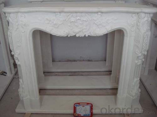 Delicate fireplace