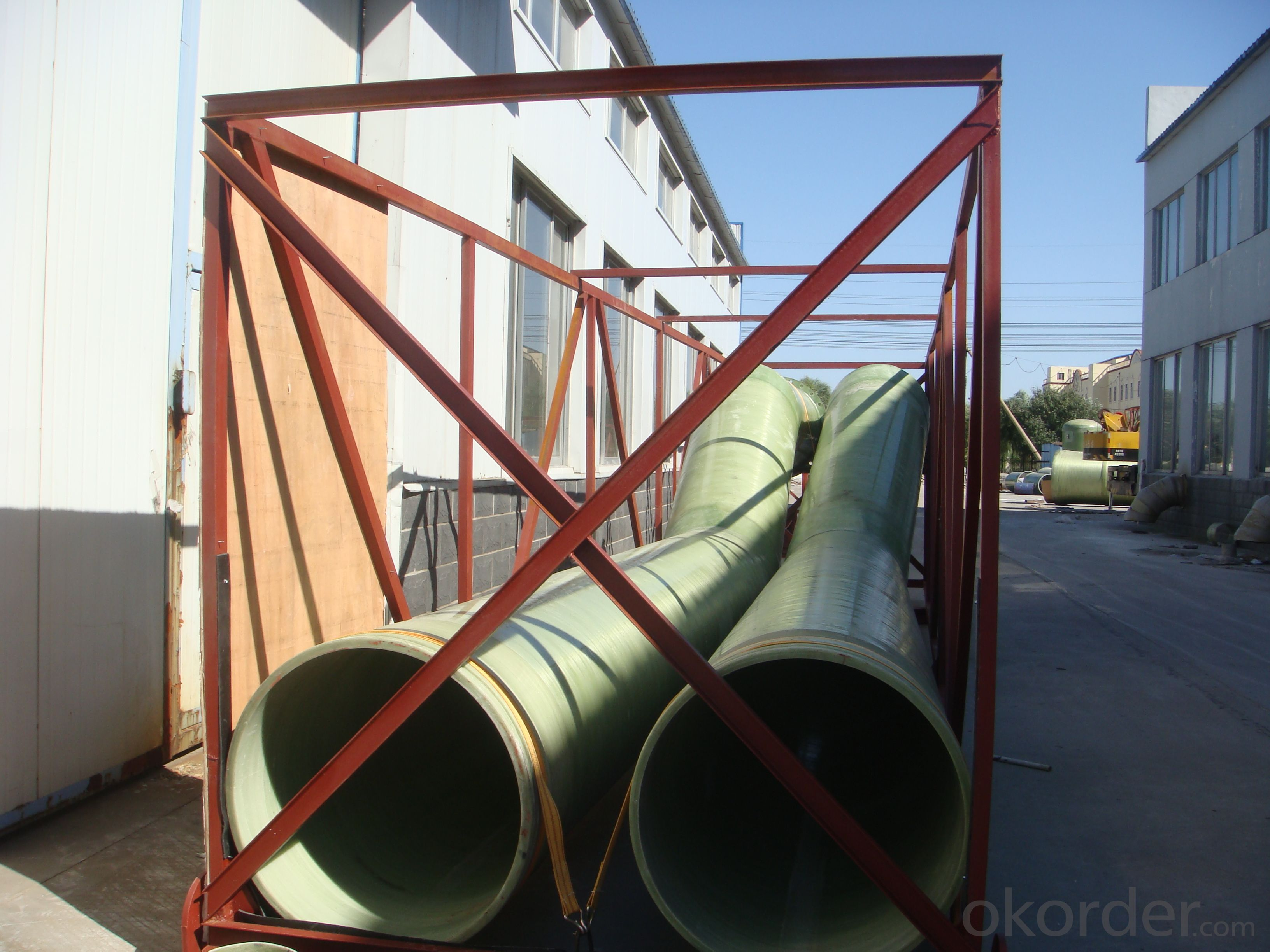 Underground GRP engineering pipe DN200