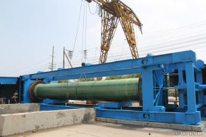 Underground GRP engineering pipe DN500
