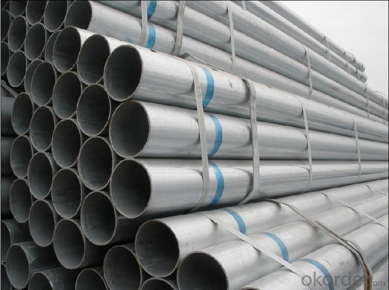 Hot dip galvanized welded steel pipe for gas