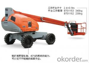 Self-propelled straight boom platform - 36/34meters